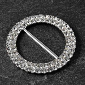 Round Crystal Rhinestone Buckle by pc, 2-1/4'' inner bar, TR-11186