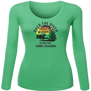 Over The River Printed For Ladies Womens Long Sleeves
