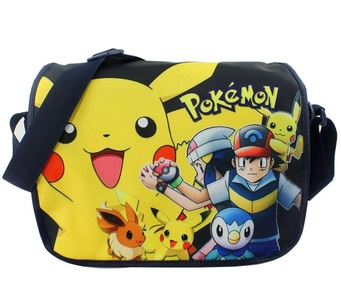 Anime Pokemon Pikachu Shoulder School Bag Messenger Bag Hand shoulders Cosplay Bag