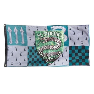 Harry Potter Slytherin House Quidditch Banner - Slytherin