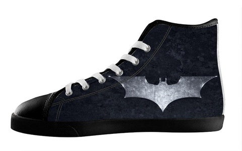 Custom High Top Lace Up Canvas Batman Individualized Design For Men's Shoes-7M(US)