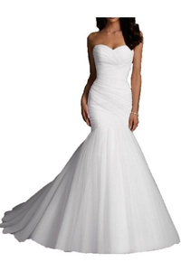 H.S.D Women's Sweetheart Mermaid Wedding Dress Bridal Gowns Ivory