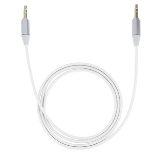 Rukiwa for 3.5mm Stereo Auxiliary Cable Male to Male Flat Audio Music Aux Cord (White)