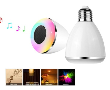 DRUnKQUEEn Smart Bluetooth Bulb, Smart Bluetooth Wireless Multicolored LED Light Bulb with Speaker, Works with iPhone, iPad, Android Phone and Tablet