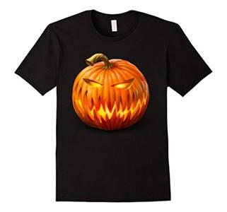 Men's Halloween Jack O'Lantern T-Shirt Medium Black