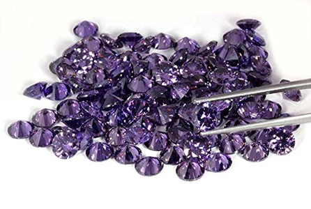 4.50MM FINE QUALITY AMETHYST VIOLET COLOUR CUBIC ZIRCONIA ROUND CUT CZ STONE LOT 50 PCE