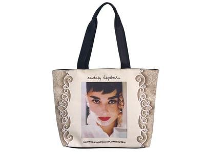 Audrey Hepburn Retro Icon Signature Shoulder Bag Tote Purse Handbag