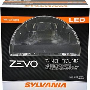 SYLVANIA Zevo 7 Round L6024 Street Legal LED Headlight by Sylvania