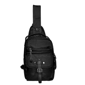 Sling Bag Unbalance Shoulder Crossbody Backpack Outdoor Sports Casual Chest Pack Men Messenger Bag Daypack for Hiking Camping Cycling Travel School Shopping oxford black, by LC Prime