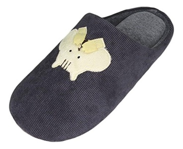 Mens Comfy Plush Winter Warm Cute Animal Memory Foam Indoor Home Slippers US 9-10 gray