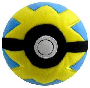 Tomy Pokemon Plush 5 inch Ball (5 inch, Quick Ball)