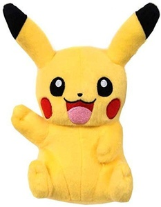 Pokemon XY TOMY 8 Inch Basic Plush Pikachu [Sitting Open Mouth, Waving] by Pokemon Black & White Toys, Games & Action Figures