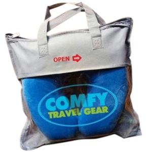 Air Travel Pillow : Relaxation Set - Best Memory Foam Pillows for Plane Travel with Custom Pillow Carry Bag