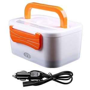 WHOSEE 12V Car Use Electric Heating Lunch Box Portable Bento Meal Heater Food Warmer 45W Orange