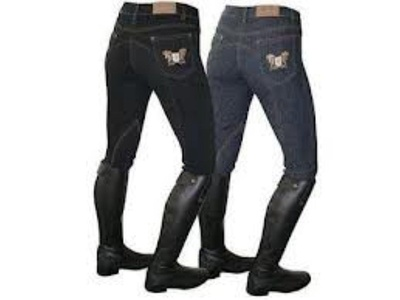 Mark Todd Ladies Skinny Jeans Breeches - Denim Blue: 28 by Mark Todd