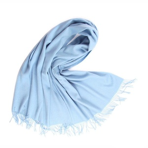 J-SUN-7 Womens Soft Wool Warm Scarf Stole Wrap(Light Blue, 2772(inch))