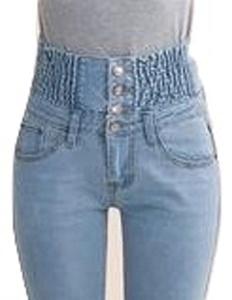 High Waist Skinny Jeans Women Slim Fashion Plus Size Denim Long Pencil Pants