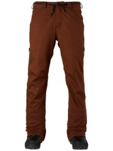 Analog Men's Remer Ski Snowboard Pants Oxblood Twill Size XL