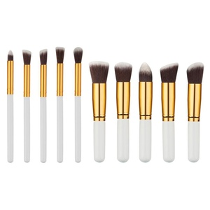 Usstore 10PCS Makeup Brush Foundation Shadow Cosmetic Foundation Powder Eyeshadow (C)