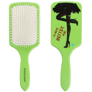 HYOUJIN Paddle Brush,Detangling Hair Brush,Hair Scalp Massage Comb,Gasbag Massage Brush,Cushion Hairbrush,Anti Static,Airbag Brush,Detangler,Taming Brush,Works on Hair extensions and wigs,Green