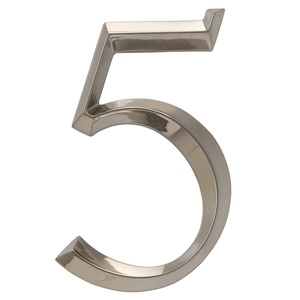 Whitehall Products Classic 6 Inch number 5 Brushed Nickel
