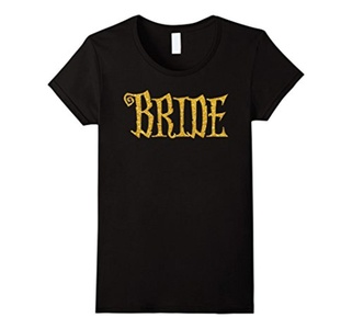 Women's Halloween Party Bride Shirts Gold Sequins