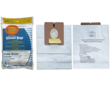 18 Fuller Brush Canister Tank Vacuum Cleaner Allergen Bag 06155 Model FB-Sscan FB-PTCAN by EnviroCare