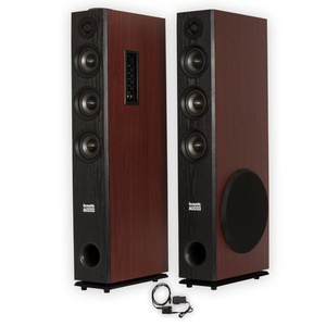 Acoustic Audio TSi650 Bluetooth Powered Floorstanding Tower Multimedia Speakers with Optical Input TSi650D