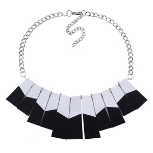 PSNECK Jewelry Wood Statement Necklace Pendant Collar Chokers Maxi Necklace Boho