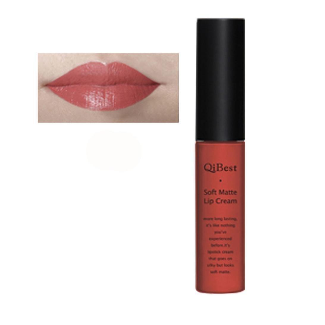 Sagton® QIBEST Matte liquid lipstick Long Lasting lip gloss (Pink07)