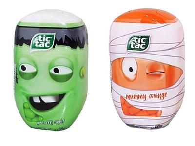 Halloween TicTac Set- Mummy Orange, and Greeeeen Apple, each 3.4 oz.