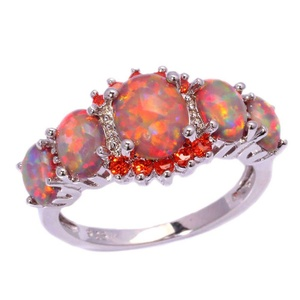 FT-Ring Orange Fire Opal Orange Garnet Jewelry Wedding Ring For Women Engagement Wedding Bridal Rings (5)