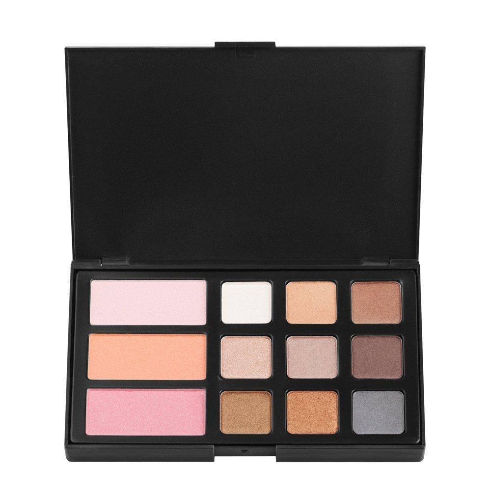 Pure Vie Professional 12 Colors Eyeshadow Blush Powder Palette Makeup Contouring Kit #2 for Salon and Daily Use