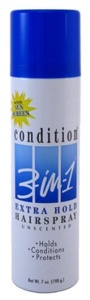 Condition 3-N-1 Aero Hairspray 7 oz. Extra-Hold Unscented (Case of 6) by Condition 3-in-1