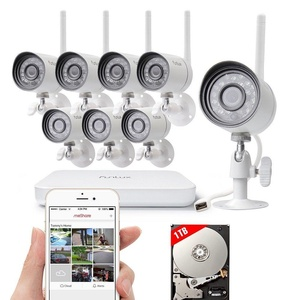 Funlux 8CH NVR 720P WiFi Wireless Outdoor IR Home Security Camera System 1T