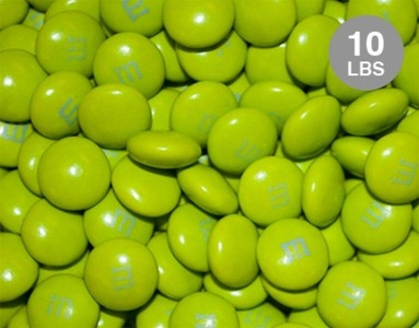 Electric Green M&M'S Milk Chocolate Candies -10lbs, Approx 5,000 Pieces