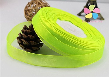 1roll/lot,50yards/roll 20mm Multi Colors Option Organza Ribbon Hair Bow Tape DIY Garment Sewing Accessories (58)