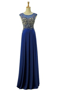 JoyVany Lace Pearl Bridesmaid Dress Tulle Long Party Gowns with Cap Sleeves C Size 22W