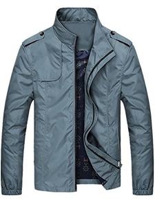 Season Show Men's Light Jackets Waterproof Outcoat Jackets Grey Blue M