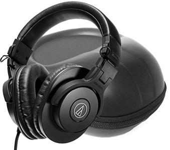 FitSand (TM) Travel Carry Storage Zipper EVA Hard Case Bag Pouch Box Cover for Audio-Technica ATH-M30x Professional Studio Monitor Headphones