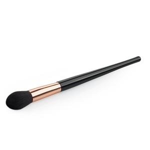 CINEEN Single Hoist Handle Silver and Black Brush Fire Blusher Brush Loose Paint Cosmetic Brush / Face Powder Foundation Brush (Golden )