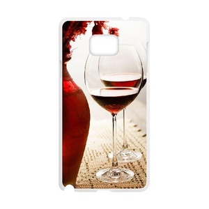 Samsung Galaxy note5 Case, LEDGOD Fashionable Gift DIY Red Wine Glass White Cover Phone Case for Samsung Galaxy note5 Shell Phone.
