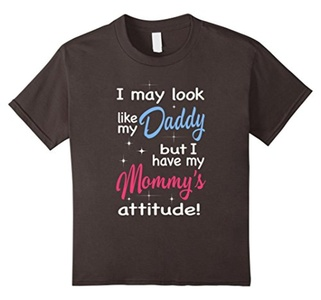 Kids I May Look Like My Daddy But I Have My Mommy's T-Shirt 8 Asphalt