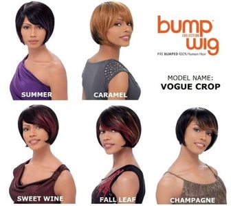 Sensationnel Bump Human Hair Wig - Vogue Crop-Sweet Wine by Sensationnel