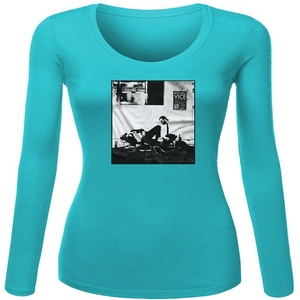 Giroppon for Women Printed Long Sleeve Cotton T-shirt
