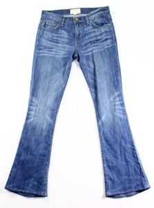 Current/Elliott Light Blue Denim Womens Boot Cut Jeans 0