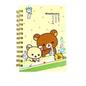 San-x Rilakkuma B6 Spiral Lined Notebook Note Pad