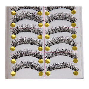 UNKE 10 Pairs of Professional Makeup Cross Hand-Made Party False Eyelashes Soft Natural Eye Lashes