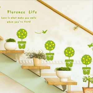 Green Plant Wall Stickers Love Wall Decal Mural Home Decor