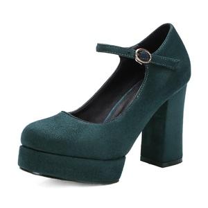 Susanny New Fashion Party Platform High Heels Women Pumps Spring Autumn Elegant Ladies Green Ankle Strap Shoes 2.5 B (M) US